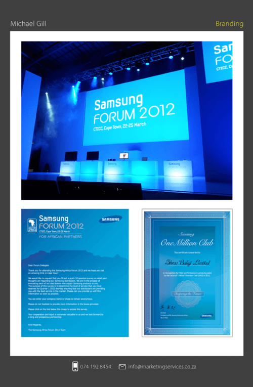 DTP for events - SAMSUNG FORUM 2