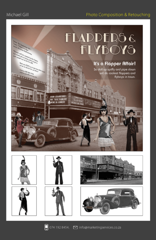 DTP Design Portfolio - INVITATIONS - FLAPPERS & FLYBOYS