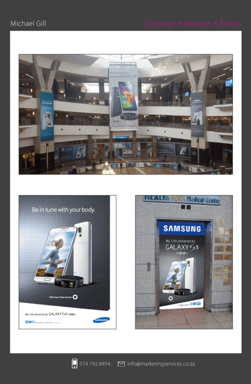 DTP Design Portfolio Out of home 3 - SAMSUNG GALAXY S5 CAMPAIGN 3