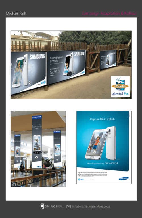 DTP Design Portfolio Out of home 1 - SAMSUNG GALAXY S5 CAMPAIGN 1