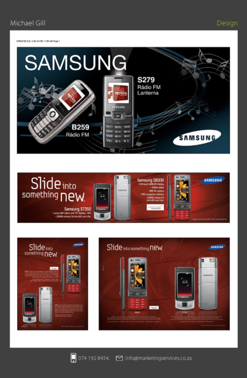 Design and DTP - SAMSUNG MOBILE CAMPAIGN 1
